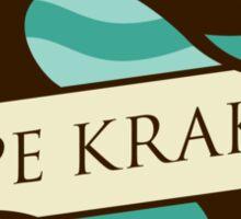 Game Of Thrones - 'Cape Kraken' vintage badge Sticker
