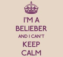 I'm a belieber and I can't keep calm T-Shirt