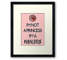Khaleesi Framed Print
