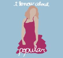 """I Know About Popular"" Galinda, Wicked Kids Tee"