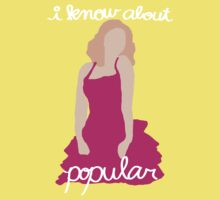 """I Know About Popular"" Galinda, Wicked Baby Tee"
