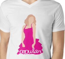 """I Know About Popular"" Galinda, Wicked Mens V-Neck T-Shirt"
