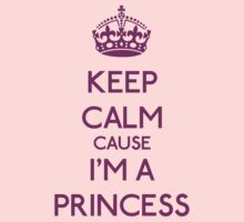 Keep Calm cause I'm a Princess (Purple) Kids Clothes