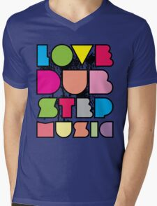 Love Dubstep Music Mens V-Neck T-Shirt