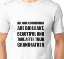 Grandchildren Brilliant Grandfather Unisex T-Shirt