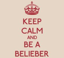 Keep Calm and be a Belieber (Red) by OhMyDog