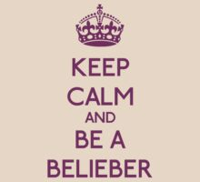 Keep Calm and be a Belieber (Purple) by OhMyDog