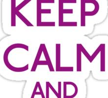 Keep Calm and be a Belieber (Purple) Sticker