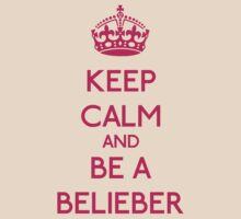 Keep Calm and be a Belieber (Pink) by OhMyDog