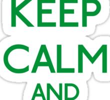 Keep Calm and be a Belieber (Green) Sticker