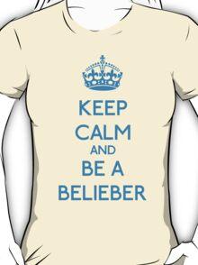 Keep Calm and be a Belieber (Cyan) T-Shirt
