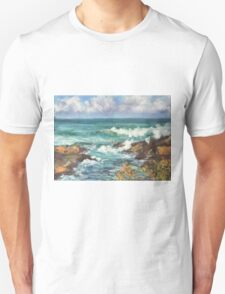 View from Kenny Walk at Nobby Head Unisex T-Shirt