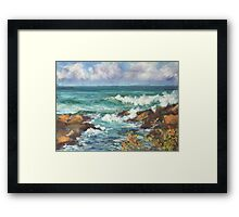 View from Kenny Walk at Nobby Head Framed Print