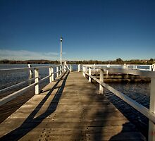 At the jetty at Lake Burley Griffin in Canberra/ACT/Australia by Wolf Sverak