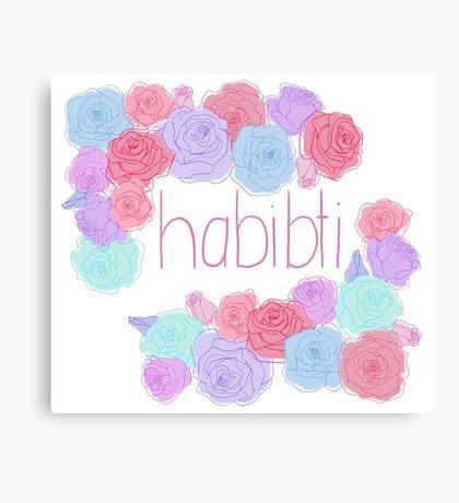 -: habibti :- Canvas Print