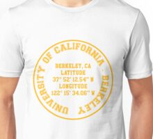 UC -  Berkeley Benchmark (yellow text) Unisex T-Shirt