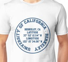 UC -  Berkeley Benchmark (blue text) Unisex T-Shirt