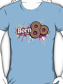 """Born in the 80's"" ladies multi-pink logo tee T-Shirt"