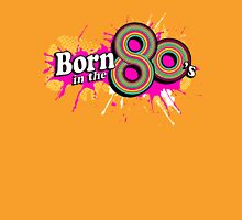 """Born in the 80's"" ladies multi-pink logo Womens Fitted T-Shirt"