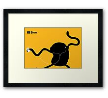 Adventure Time Bmo's Campaign (Apple iPod Parody). Jake Version. Framed Print