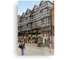 Shopping in Chester, England Metal Print