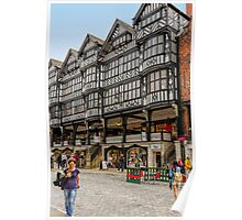 Shopping in Chester, England Poster