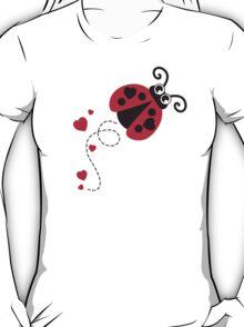 Love bug ladybug / ladybird red & yellow T-Shirt