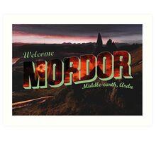 Welcome to Mordor Art Print