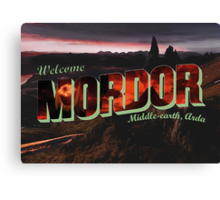 Welcome to Mordor Canvas Print