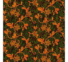 Gothic Autumn Floral Pattern Photographic Print