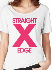 Straightedge (magenta) Women's Relaxed Fit T-Shirt