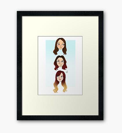 3 geeks Framed Print