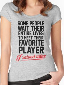 My Favorite Player Women's Fitted Scoop T-Shirt