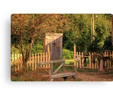 Uptown Outhouse - Windsor, IL Canvas Print