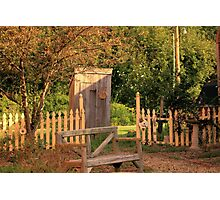 Uptown Outhouse - Windsor, IL Photographic Print