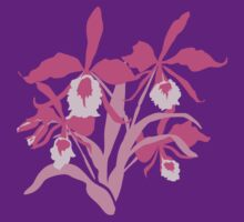Pink graphic orchid cattleya T-Shirt