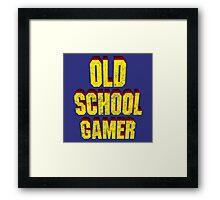 Old School Gamer Framed Print