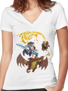Rock into Mordor Women's Fitted V-Neck T-Shirt