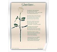 Sometime Poem (Child Loss) Poster