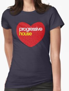 Progressive House Music Womens Fitted T-Shirt