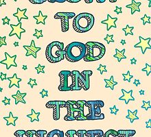 Glory to God in the Highest - hand lettering card by Micklyn2