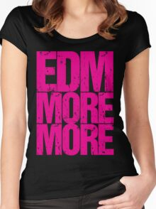 EDM MORE MORE (pink) Women's Fitted Scoop T-Shirt