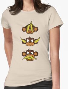 See no evil, hear no evil, speak no evil Womens Fitted T-Shirt