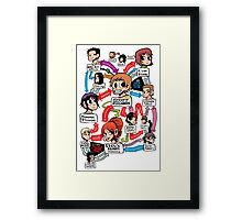 Scott Pilgrim relationship map Framed Print
