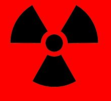 Radioactive Hazard trefoil symbol in black by TOM HILL - Designer