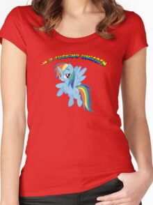I'm a F'ing Unicorn Women's Fitted Scoop T-Shirt