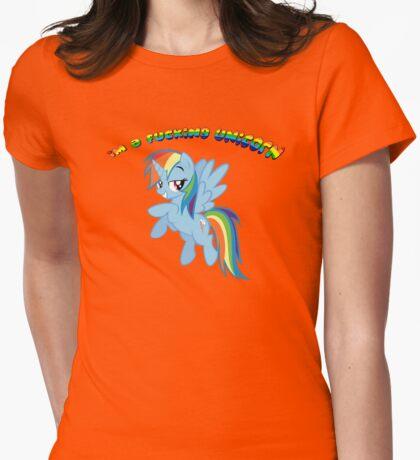 I'm a F'ing Unicorn Womens Fitted T-Shirt