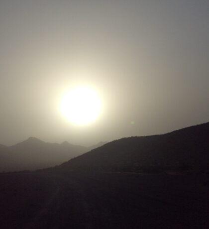Death Valley's Rising Sun Sticker