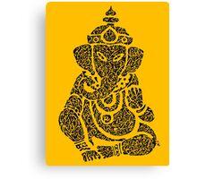 Ink Rain Ganesha Canvas Print