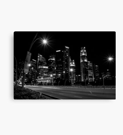 Singapore - Black and White Canvas Print